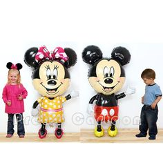 Minnie and Mickey Mouse Disney Large child size birthday baloon mylar party supplies gift