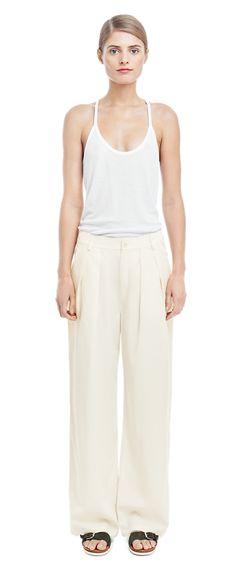 Sidney Summer Pants - Summer Collection - Shop Woman - Filippa K Summer Pants, Trousers Women, Summer Collection, Wide Leg Pants, Stylish, Woman, Monochrome, Shopping, Zen
