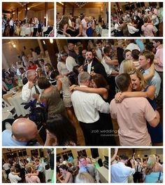 Lively wedding reception with family and friends at Robbins Sanford Grand Hall in Searcy, Arkansas