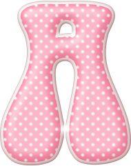 Alfabeto rosa con lunares blancos.   Oh my Alfabetos!