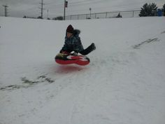 Usually a great summer stop but has a regular playground and awesome sledding hill