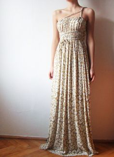 Ivory Summer long Convertible dress with braided straps