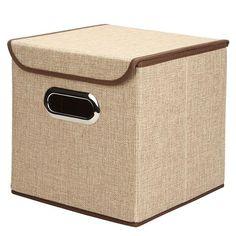 6 Colors Folding Makeup Cosmetics Sundries Jewelry Storage Bins Container Desktop Clutter Basket Cloth Art Storage Box