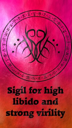 Sigil for high libido and strong virility sex sexy Requested by anonymous Occult Symbols, Magic Symbols, Ancient Symbols, Magick Book, Magick Spells, Witchcraft, Tantra, Symbole Protection, Practical Magic