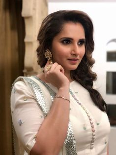 The stunning Sania Mirza is spotted wearing Sukriti & Aakriti yellow gotta embroidered sharara set for an event. The beautiful tennis star was. Beautiful Old Woman, Beautiful Girl Indian, Beautiful Indian Actress, Pretty Woman, Indian Bollywood Actress, Indian Actresses, Tennis Players Female, Attractive Girls, Braids For Long Hair