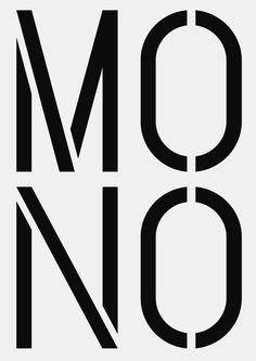 NB Grotesk™ Pro Mono Stencil, E16 (2011/16) on Behance