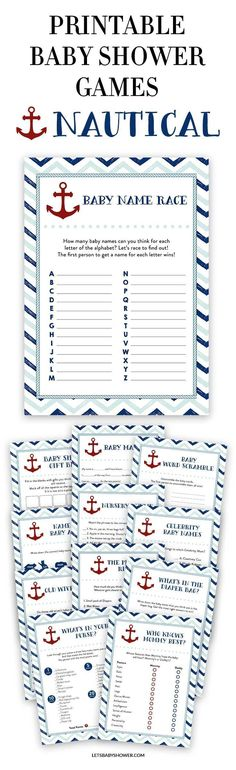 Looking for a Baby Shower theme for boys? Here's one of the baby shower ideas your guests will surely enjoy. Nautical Baby Shower Games for Boys #babyshowerideas #babyshowergames