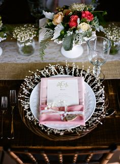 Fancy place settings with a menu make such a big difference!
