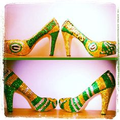 Sports mid or high heels by AmandaLeesDesigns on Etsy, $85.00