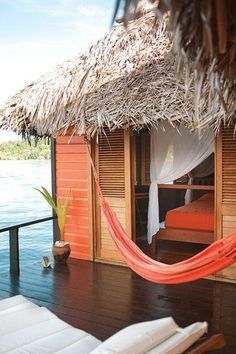 Hmm, it would be good if i have one something like this in my house :) Eclypse de Mar Lodge Resort - Bastimentos, Bocas del Toro, Panama Oh The Places You'll Go, Places To Travel, Places To Visit, Travel Things, Travel Stuff, Bungalows, Eco Deco, Paradis Tropical, Beach Please