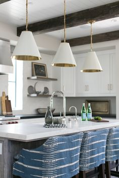 Today we hope to inspire you with examples of beamed ceiling kitchens for your own homes, and share with you about some of the pluses and minuses of the engineered wood beams now available on the market versus the authentic, antique reclaimed wooden beams - Hadley Court