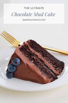 You only need one chocolate mud cake recipe... and this is it! It really is the best chocolate mud cake recipe ever! Dense, rich and oh-so-delicious! #chocolate #mud #cake #recipe #thermomix #conventional #dessert #birthday