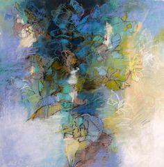 Garden Meditation by Debora Stewart 22x22 pastel on paper by Debora Stewart Pastel ~ 22 x 22