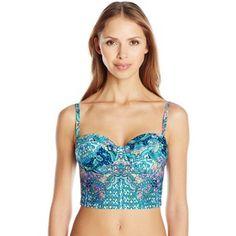 $56 Kenneth Cole Reaction Women's Scarfs On Deck Underwire Bustier Bikini Top