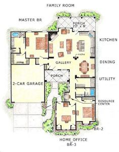 1000 images about house plans on pinterest floor plans for What is a courtyard garage