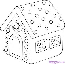 How to Draw a Gingerbread House, Step by Step, Christmas Stuff . Noel Christmas, Christmas Crafts For Kids, Christmas Colors, Holiday Crafts, Christmas Stuff, Kids Crafts, Christmas Ideas, Xmas Drawing, Christmas Drawing