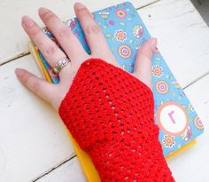 Crochet fingerless gloves Crochet wrist warmers red fingerless gloves ready to ship winter wear women's gift idea accessory