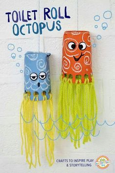 Toiler paper roll octopus