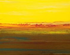 Golden Hour Upon Us III 16 x20 Canvas, Original Abstract Sunset, Landscape Painting by Colorado Abstract Artist Kimberly Conrad, painting by artist Kimberly Conrad