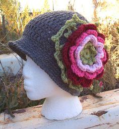 Crochet 1920s Style Flapper Crochet Cloche Hat