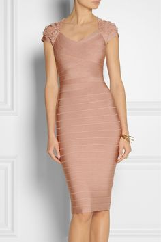 Buy Hervé Léger Women's Pink Beaded Bandage Dress, starting at $2450. Similar products also available. SALE now on!