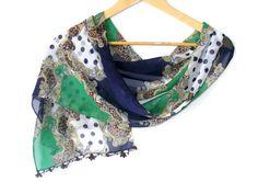 women scarf ,chiffon scarf ,with lace ,new design ,shawl
