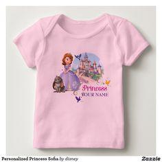Princess - Personalized Princess Sofia Tee Shirt. Baby, bebé. Producto disponible en tienda Zazzle. Vestuario, moda. Product available in Zazzle store. Fashion wardrobe. Regalos, Gifts. #camiseta #tshirt
