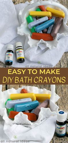 DIY Bath Crayons for Bathtub Fun Bathtub crayons are an easy essential oil DIY recipe. Learn how to make essential oil DIY bath crayons to help your kids relax at bedtime. Diy Gifts For Kids, Easy Diy Gifts, Diy For Kids, Diy Crafts For Gifts, Bath Crayons, Diy Crayons, Melted Crayons, Making Crayons, How To Make Crayons