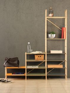 Andamio Shelf is a minimalist furniture design created by Spain-based designers Studioapart. The shelf is completely modular, and was inspired by traditional Indian scaffolding. Once disassembled, the design becomes completely flat-packed. In addition, the assembly itself can be completed without the use of any tools. (2)