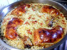 ΜΑΓΕΙΡΙΚΗ ΚΑΙ ΣΥΝΤΑΓΕΣ 2: Μπουτάκια κοτόπουλου στο φούρνο με ρυζάκι κίτρινο !!!! Pastry Cook, Greek Recipes, Easy Recipes, Greek Dishes, Cravings, Recipies, Easy Meals, Food And Drink, Chicken