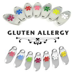 GLUTEN ALLERGY Medical ID Plate PreEngraved by MyIdentityDoctor, $14.99 if you wear one of those medical alert bracelets when you go out to dinner that they may take it a lot more seriously and listen to you