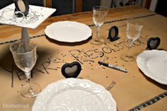 New Year's Resolution Table Runner