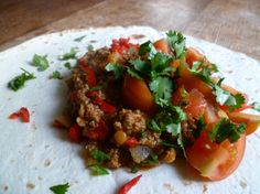 Indian Minced Beef with a Fresh TomatoSalad