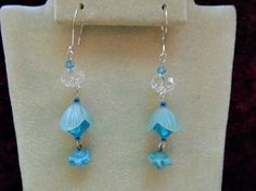 Aqua Blue Earrings Just Lovely with the Clear by AprilSnowJewelry, $15.00