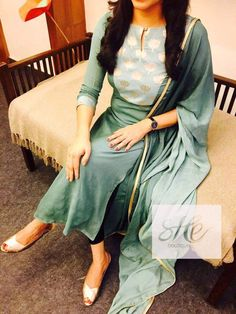 Colors & Crafts Boutique™ offers unique apparel and jewelry to women who value versatility, style and comfort. We specialize in customized attires crafted in h Salwar Neck Designs, Kurta Neck Design, Neck Designs For Suits, Kurta Designs Women, Dress Neck Designs, Blouse Designs, Salwar Pattern, Kurta Patterns, Churidhar Designs