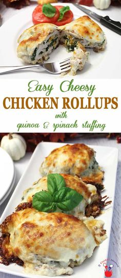 These easy cheesy chicken rollups have everything…