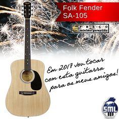 Boa tarde! A guitarra pode comprar aqui: http://www.salaomusical.com/pt/guitarras/2627-guitarra-folk-fender-sa-105-squier-natural.html Tocar para os amigos é das melhores coisas que se podem fazer!