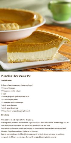 Pumpkin Cheesecake Pie  From: http://www.bunngourmet.com/catalog_product.asp_Q_categoryId_E_2_A_subcategoryId_E_81_A_categoryItemId_E_563_A_Pumpkin%2520Cheesecake%2520Pie_E_Pumpkin%2520Cheesecake%2520Pie