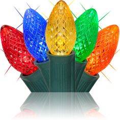 C7 Multicolor Twinkle Commercial LED Christmas Lights