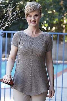 Ravelry: 5204E Lace Cabled Swing Top pattern by Barry Klein