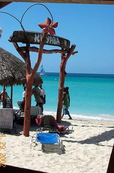 Kuyaba Restaurant, on the beach in Negril, Jamaica