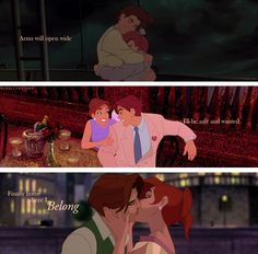 Anastasia is NOT Disney (she's actually 20th Century FOX), but this fits best in this board. I LOVE THIS IMAGE! She found home in Demetri <3