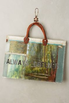 One-of-a-Kind Always Greener Tote by Leslie Oschmann