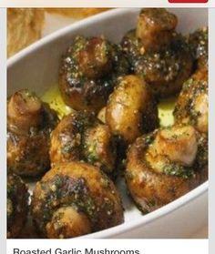 Roasted Garlic Mushrooms! #Food #Drink #Trusper #Tip