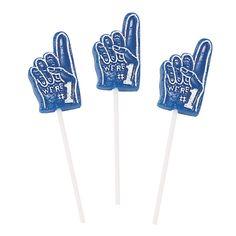 Blue We're #1 Finger-Shaped Suckers - $5.99. dozen   OrientalTrading.com