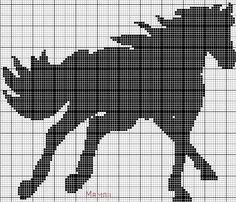 Gallery.ru / Photo # 65 - Horses (scheme) - Olgakam