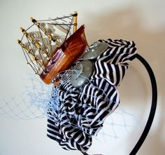 boat fascinator!  This seems to be a popular theme.