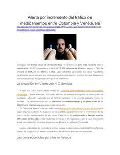 Alerta por incremento del tráfico de medicamentos entre Colombia y Venezuela