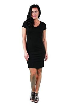 24/7 Comfort Apparel Sleeveless Sheath Dress - Onyx - X-Large >>> Continue to the product at the image link. We are a participant in the Amazon Services LLC Associates Program, an affiliate advertising program designed to provide a means for us to earn fees by linking to Amazon.com and affiliated sites.