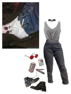 """""""scumbag"""" by unwriteable ❤ liked on Polyvore featuring WithChic, Yves Saint Laurent and ASOS"""